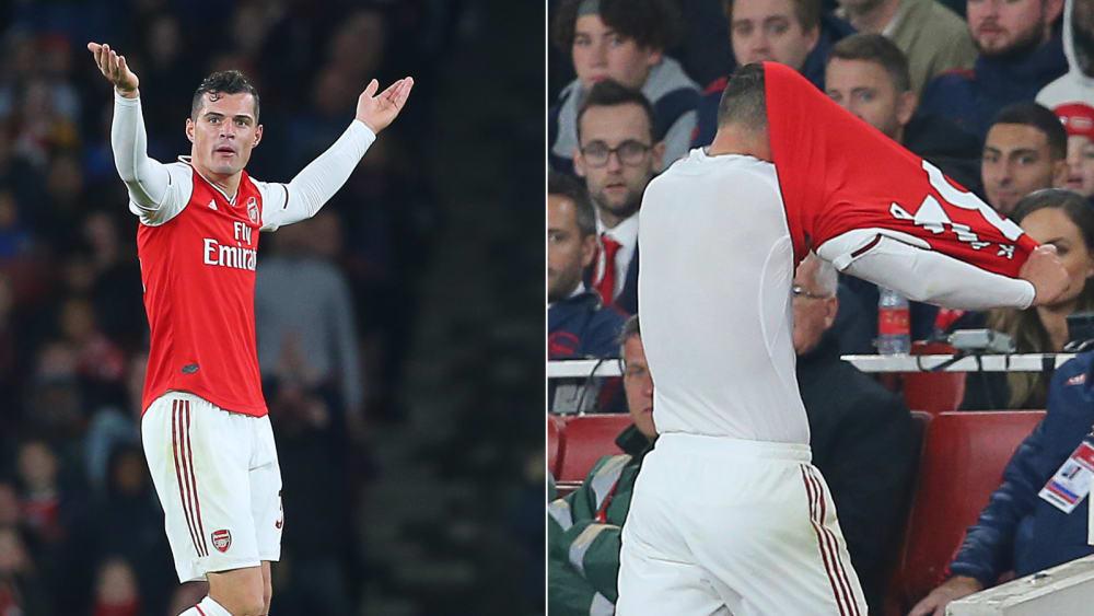 Granit Xhaka bei Arsenals 2:2 gegen Crystal Palace