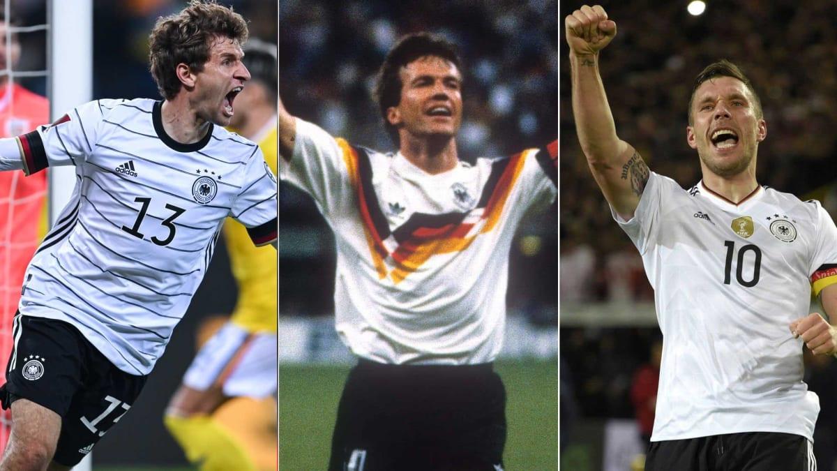 Müller zieht mit Klinsmann gleich: Der Hunderter-Klub der DFB-Auswahl