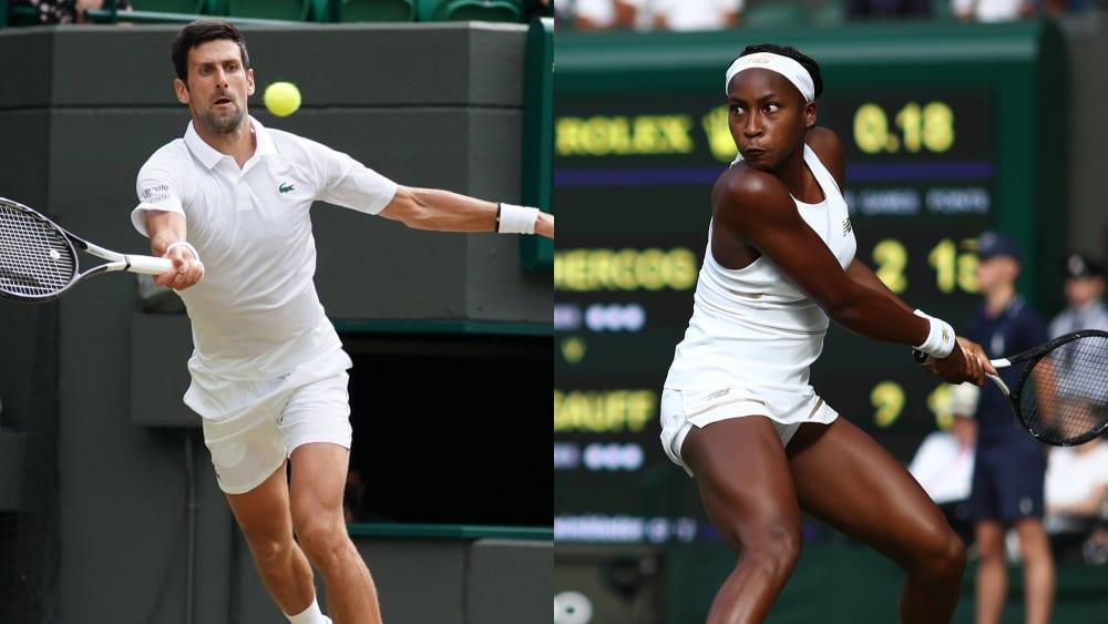 Novak Djokovic und Cori Gauff