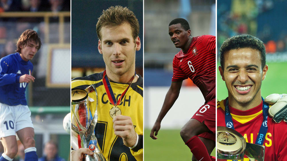 Überflieger ihres Jahrgangs: Andrea Pirlo, Petr Cech, William Carvalho, Thiago (v.li.).