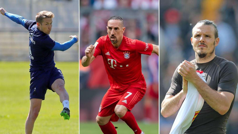 Lewis Holtby, Franck Ribery und Alex Meier