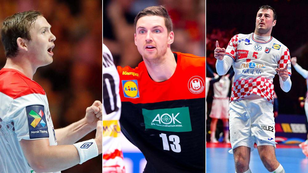 Sander Sagosen, Hendrik Pekeler und Domagoj Duvnjak