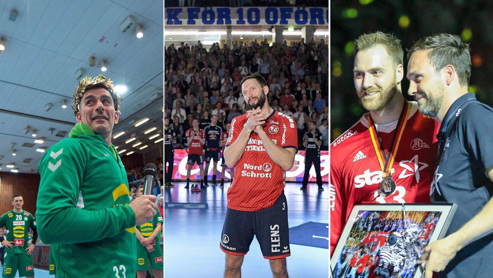 Sie verlassen das deutsche Oberhaus: Dalibor Doder, Tobias Karlsson und Andreas Wolff.
