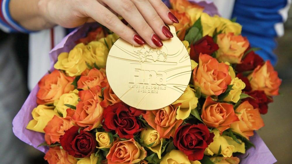 Begehrtes Edelmetall: Goldmedaille von der Schwimm-WM in Gwangju.