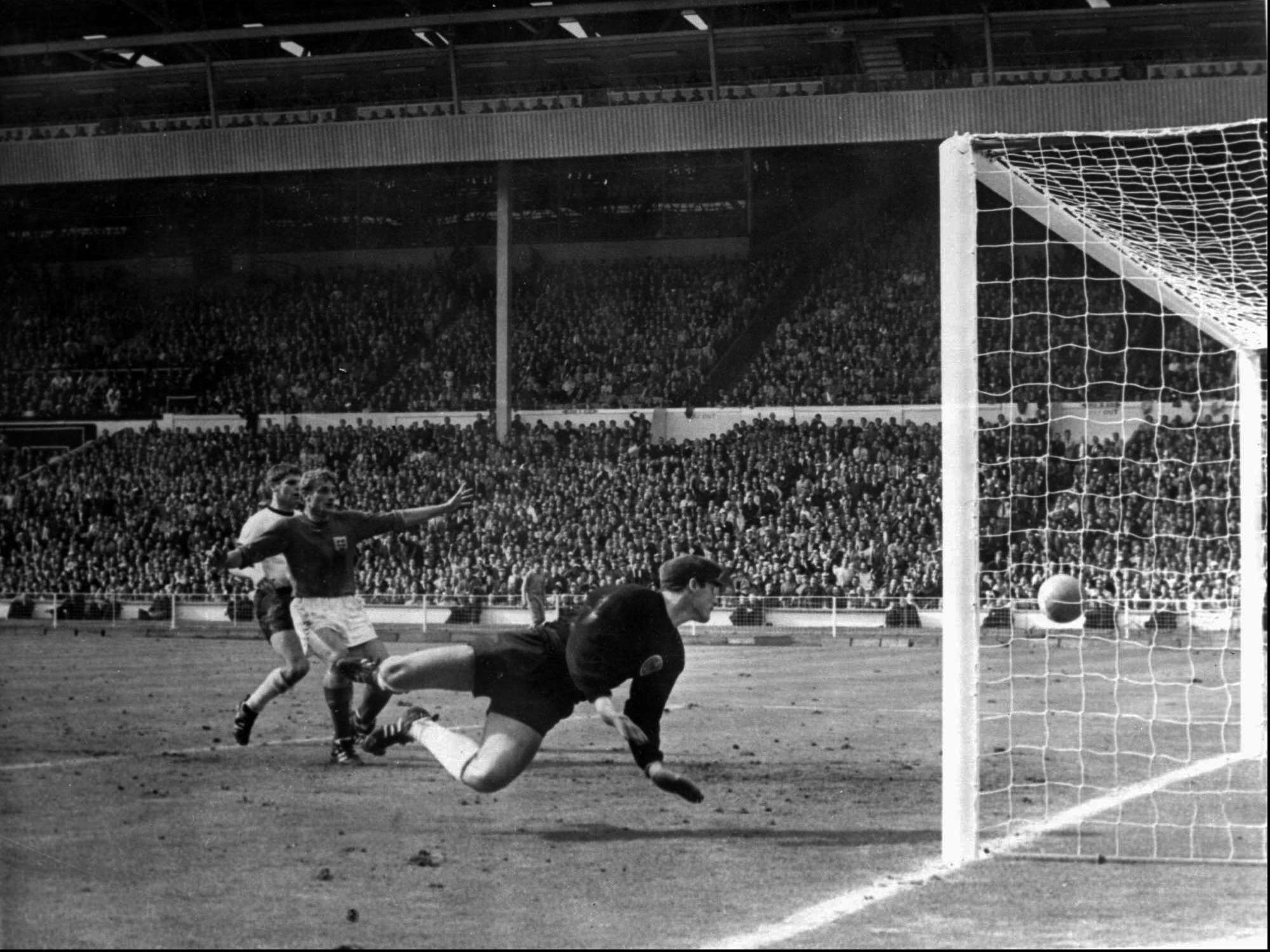 Das berühmte Wembley-Tor von 1966