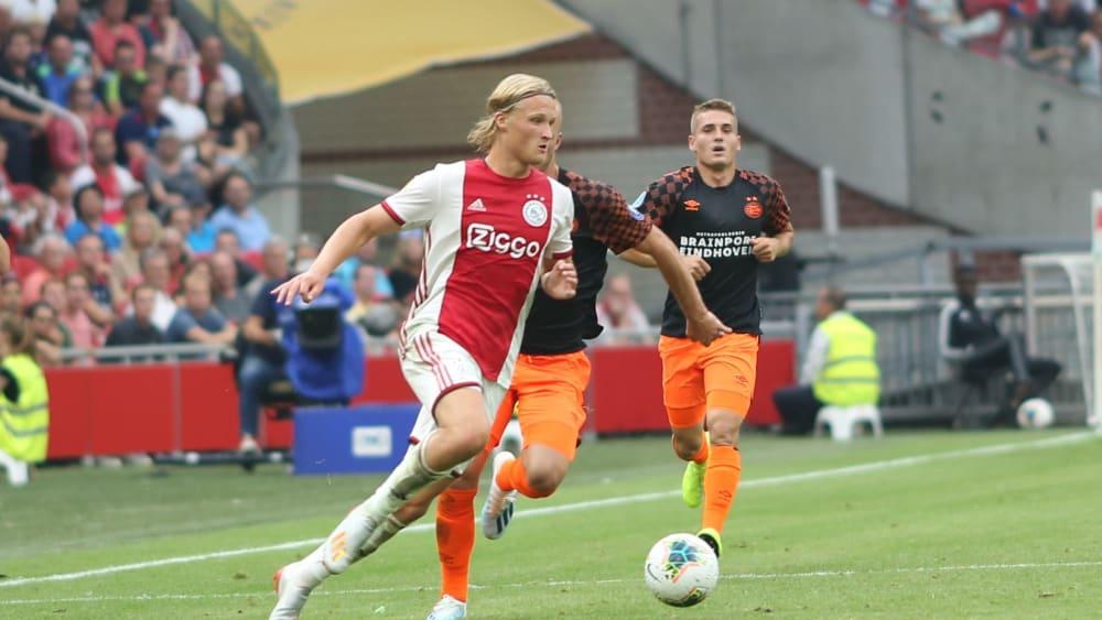 Von Hoffenheim und Nizza umworben: Ajax Amsterdams Kasper Dolberg.