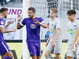 Aues starke erste Hälfte beim 4:1 gegen Hertha