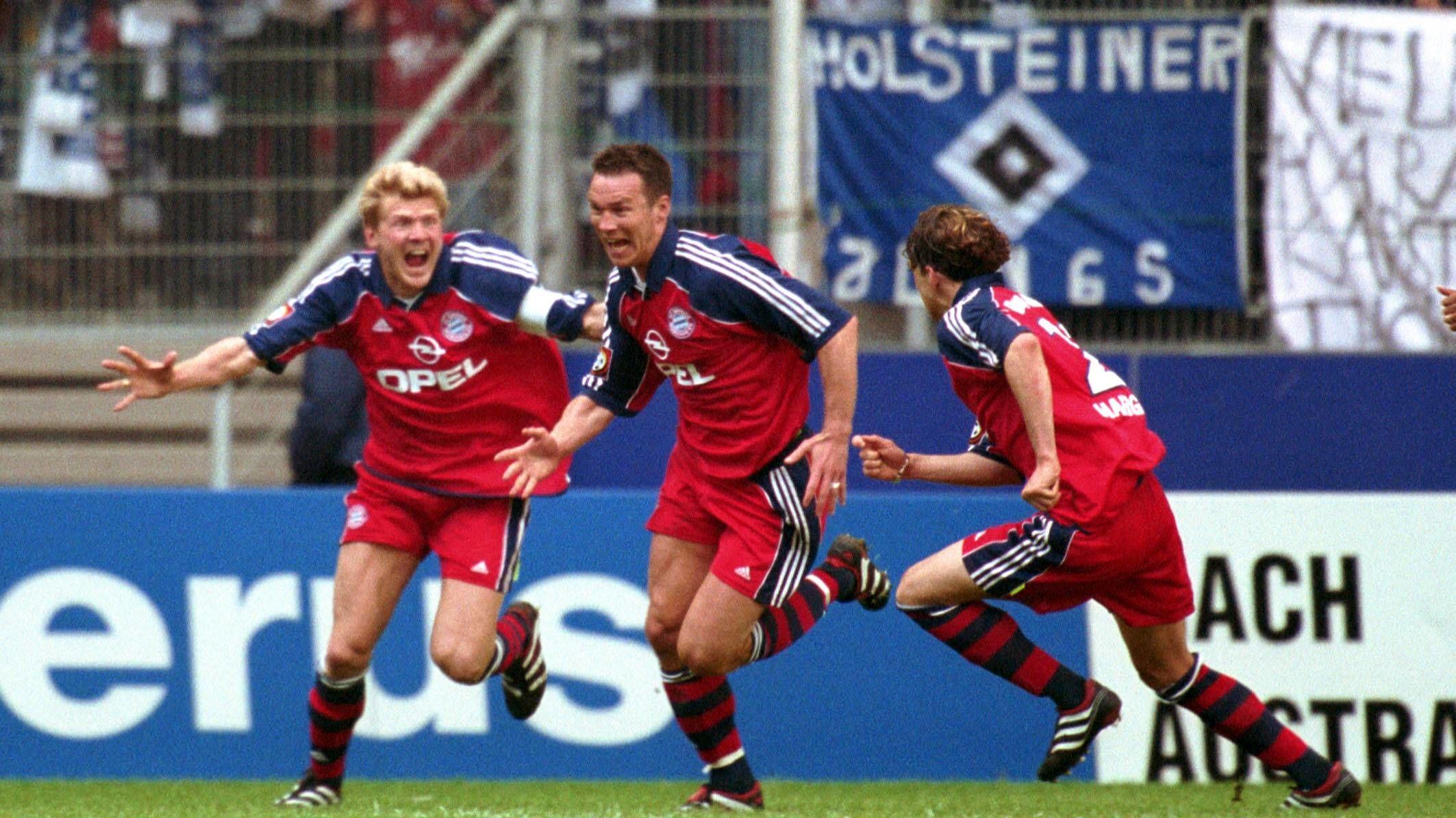 Patrik Andersson (Mitte) schoss die Bayern zur Meisterschaft.