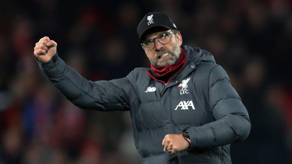 Nach zwölf Spieltagen neun Punkte vor Manchester City: Jürgen Klopp und der FC Liverpool.