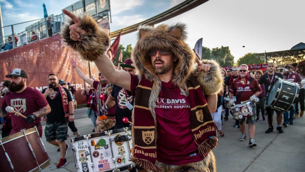 Die Fans des Sacramento Republic FC