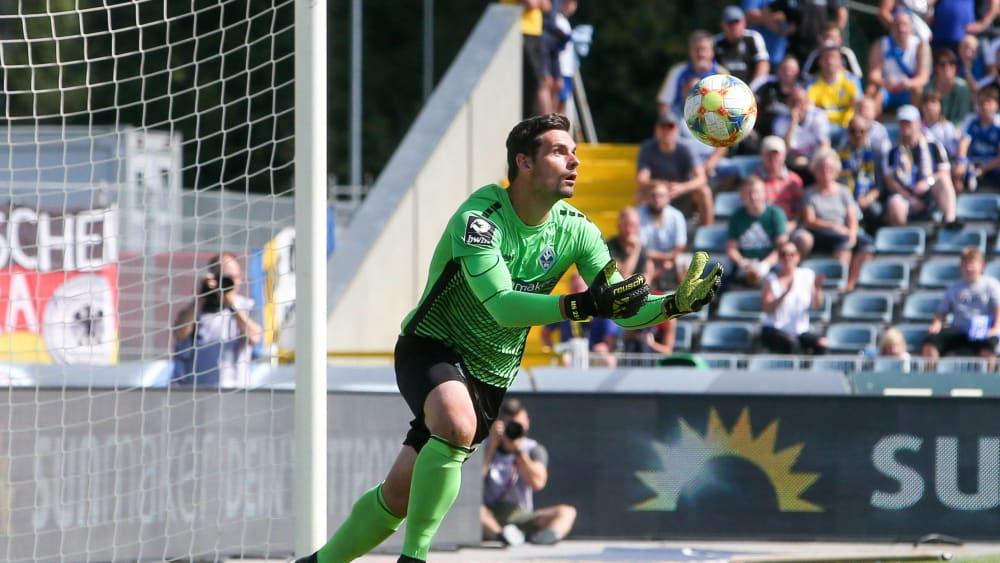 Verlängerte seinen Vertrag vorzeitig: Torhüter Markus Scholz.