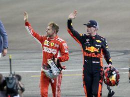 Sebastian Vettel und Max Verstappen