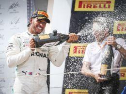 Rast unaufhaltsam dem sechsten WM-Titel entgegen: Mercedes-Pilot Lewis Hamilton.