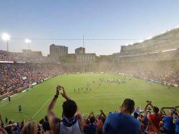 Ausblick von der Kurve der Cincinnati-Fans