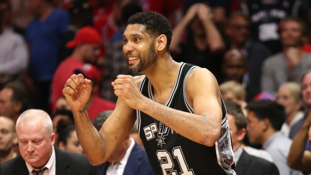 Tim Duncan hatte bei den Spurs reichlich Grund zum Feiern.