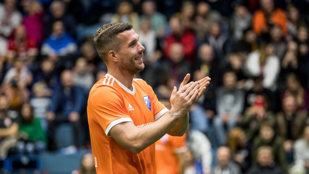 Lukas Podolski am Sonntag in Gummersbach