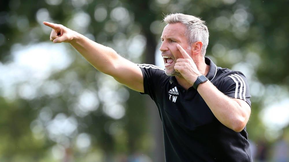 Will weiter nach vorne blicken: Schweinfurt-Trainer Timo Wenzel