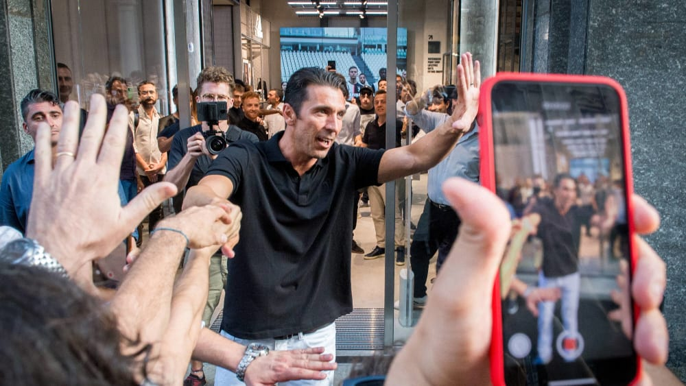 Gianluigi Buffon am Donnerstag in Turin