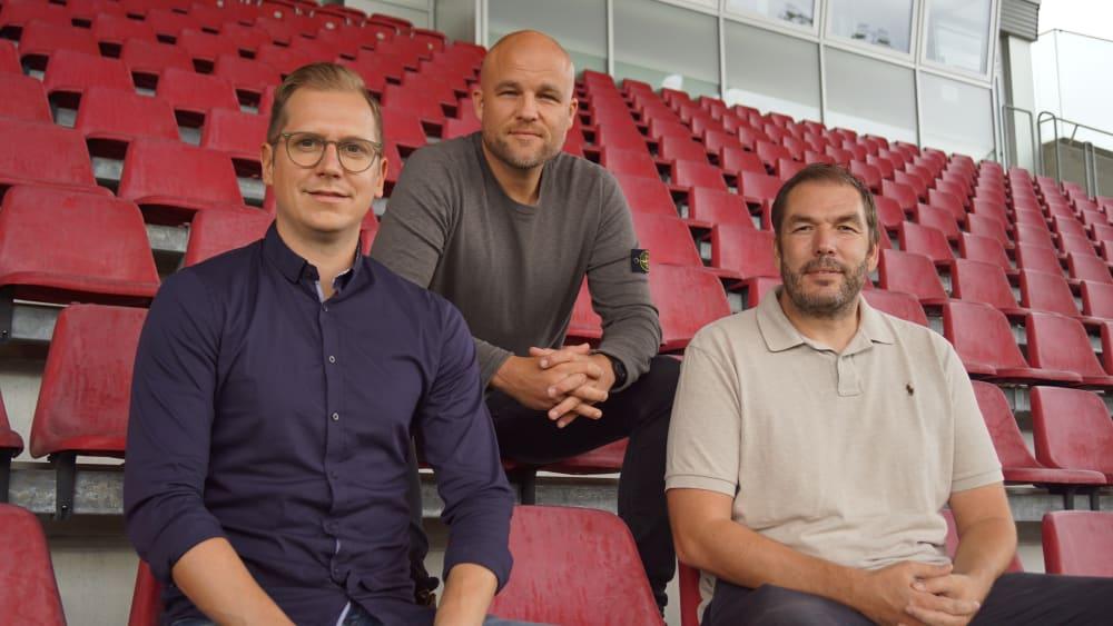 Mainzer Funktionäre: André Hechelmann, Rouven Schröder und Bernd Legien (v.l.).