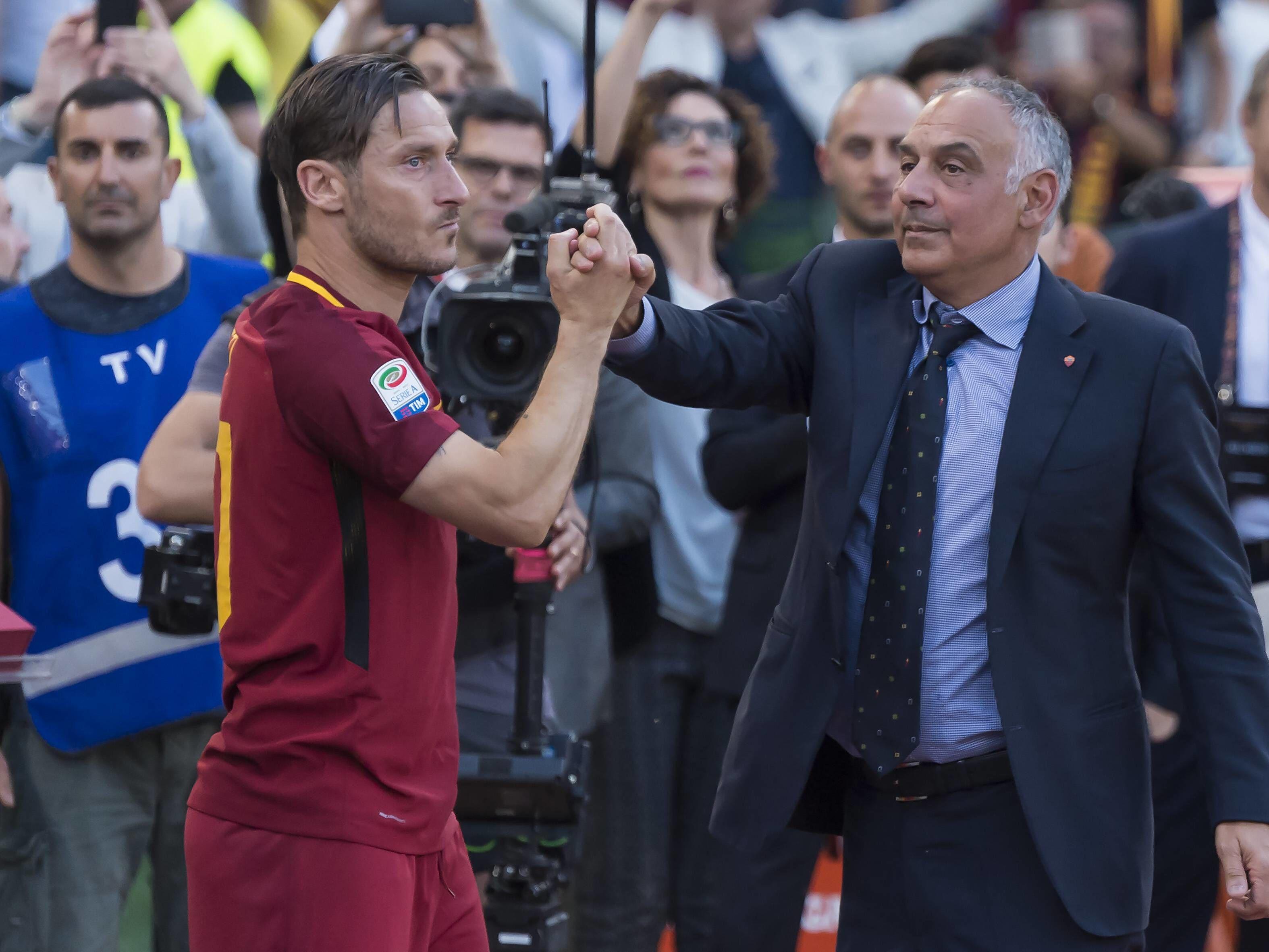 Francesco Totti (links) und James Pallotta