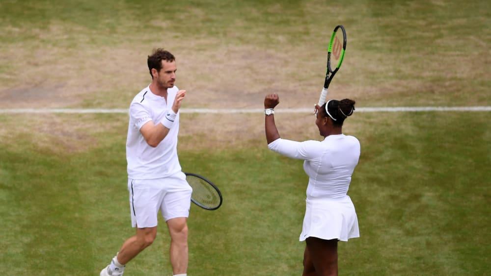 Zweiter Sieg für Andy Murray und Serena Williams.