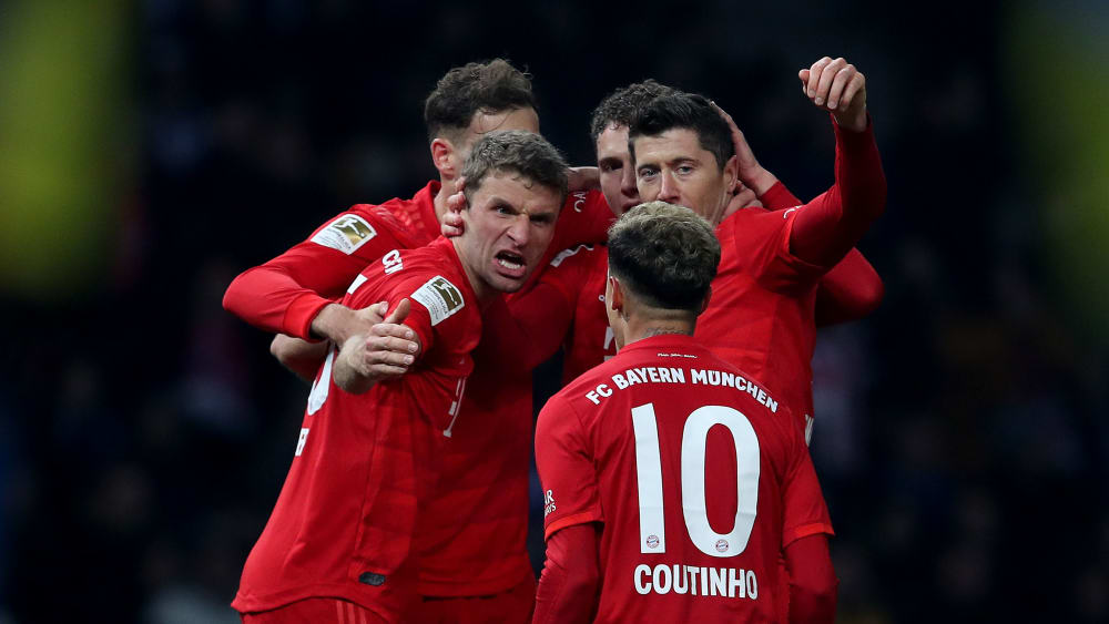 Fulminante letzte halbe Stunde: Der FC Bayern traf in Berlin gleich viermal.