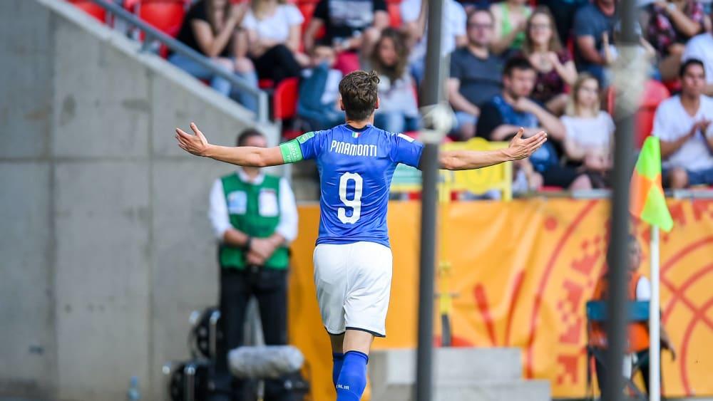 Sein Doppelpack hievt Italien ins Halbfinale: Andrea Pinamonti.