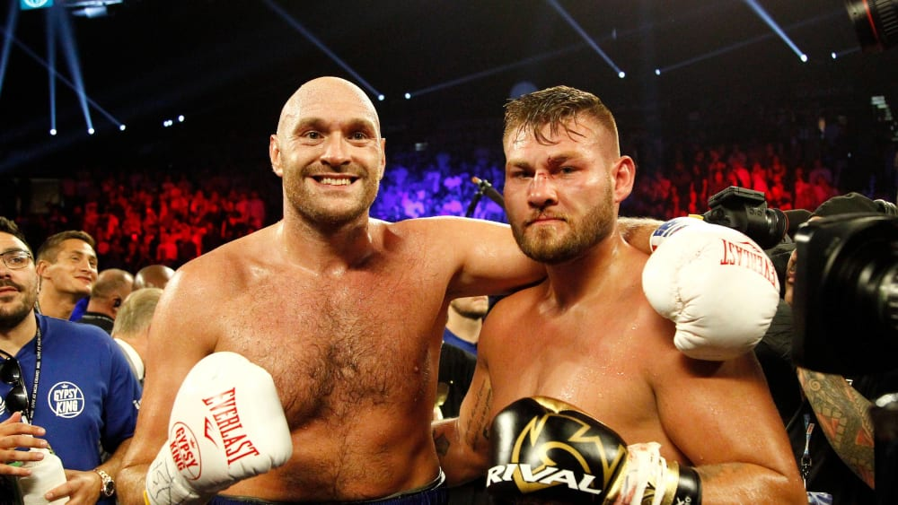 Tyson Fury nach seinem Sieg über Tom Schwarz