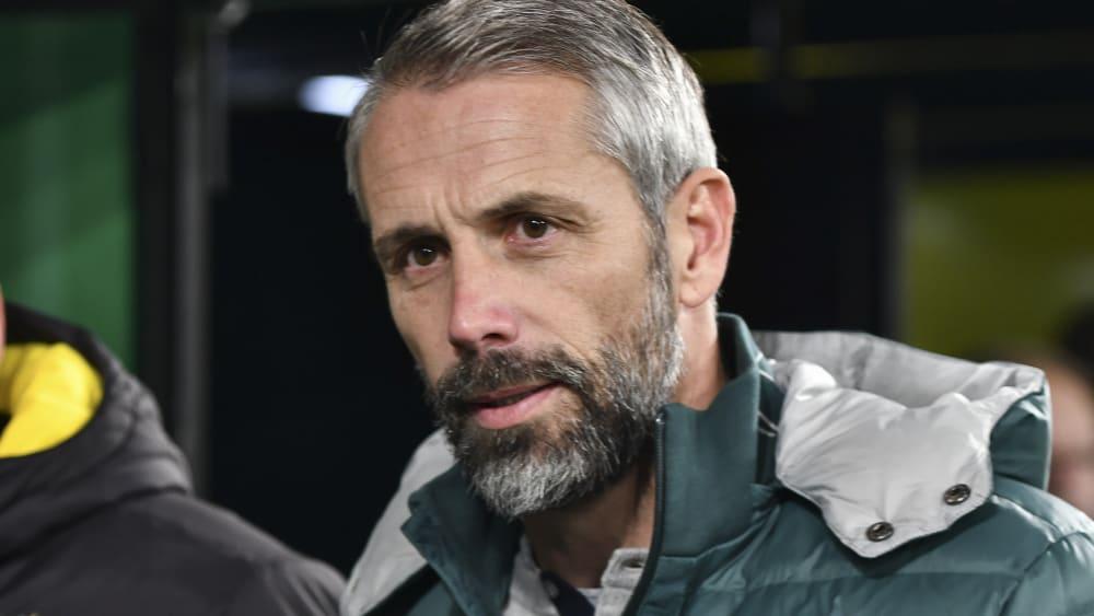 Beweist beachtliche Flexibilität: Mönchengladbachs Trainer Marco Rose.