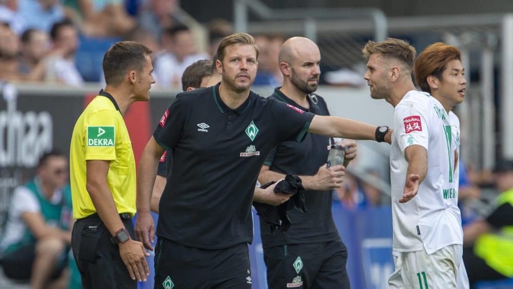 Niclas Füllkrug (re.) und Werder Bremen standen am Ende ohne Punkte da.