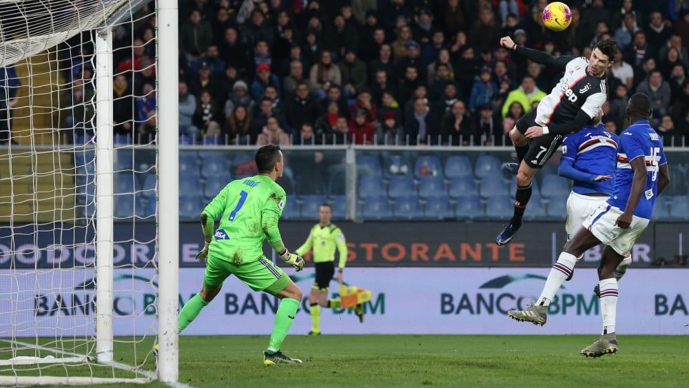 Sprang bei seinem 2:1 höher als alle anderen: Cristiano Ronaldo.