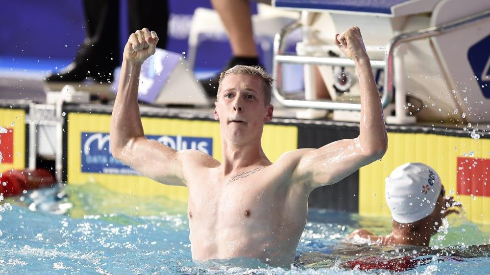 Die wohl größte deutsche Medaillenhoffnung: Florian Wellbrock, EM-Goldmedaillengewinner über 1500 Meter.