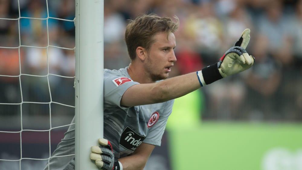 Strahlte bei seinem allerersten Saisoneinsatz viel Ruhe aus: Frankfurts Ersatztorwart Frederik Rönnow.