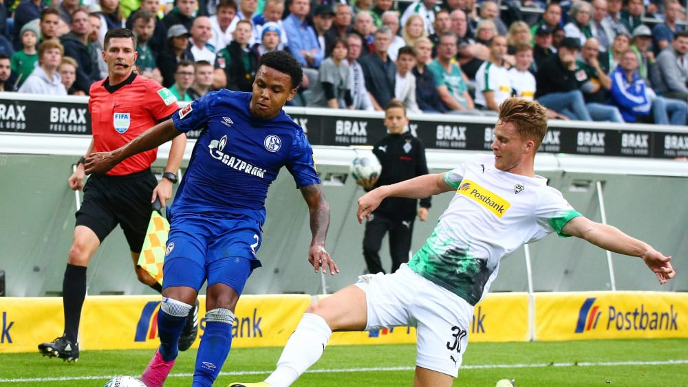 Schalkes Weston McKennie gegen Gladbachs Nico Elvedi