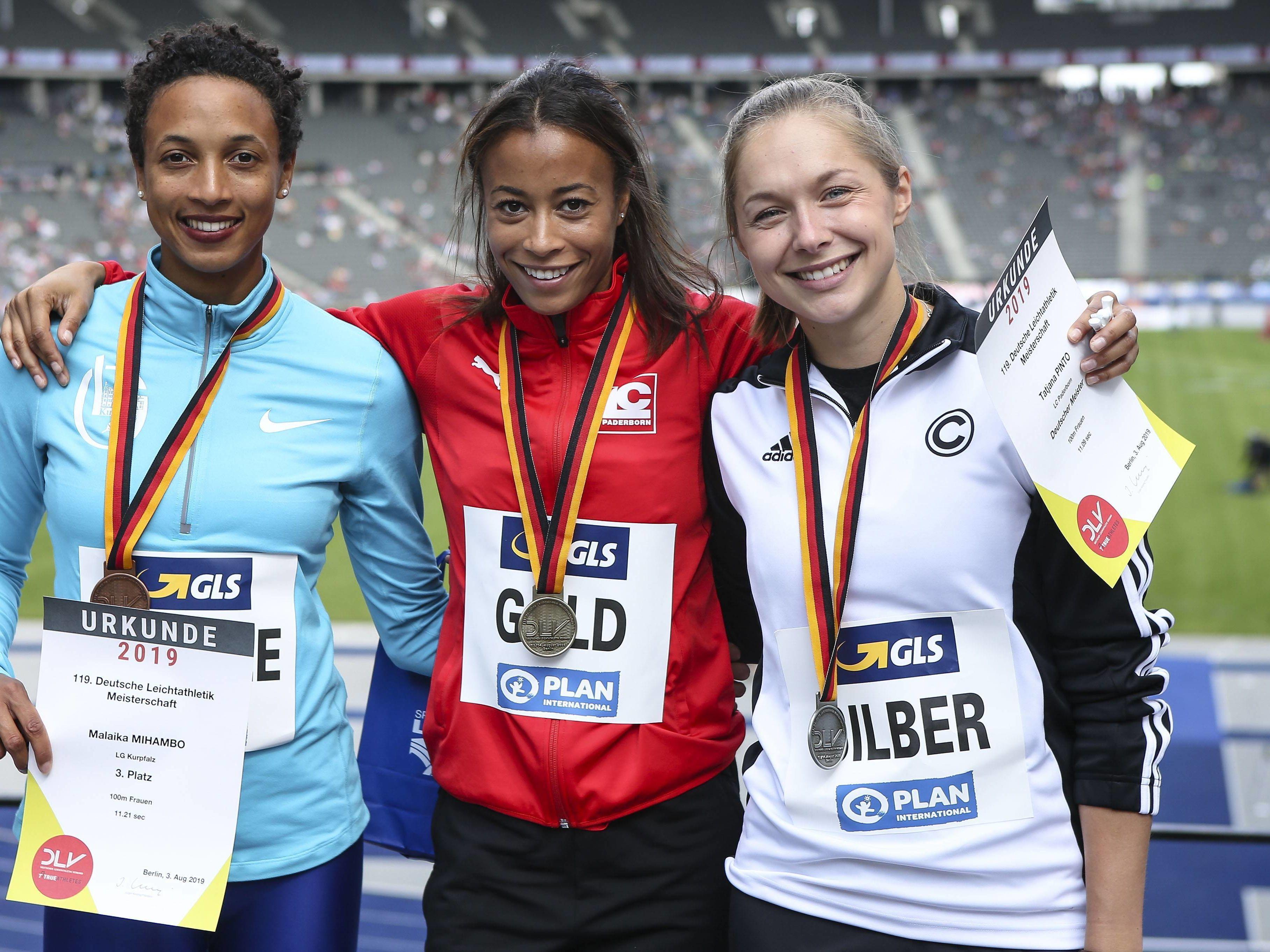 Im Kreis der besten deutschen Sprinterinnen: Mihambo holte bei den