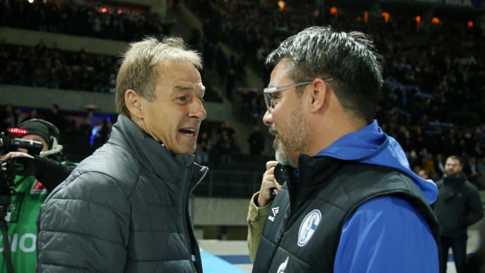 David Wagner (r.) mit Jürgen Klinsmann am Freitag in Berlin