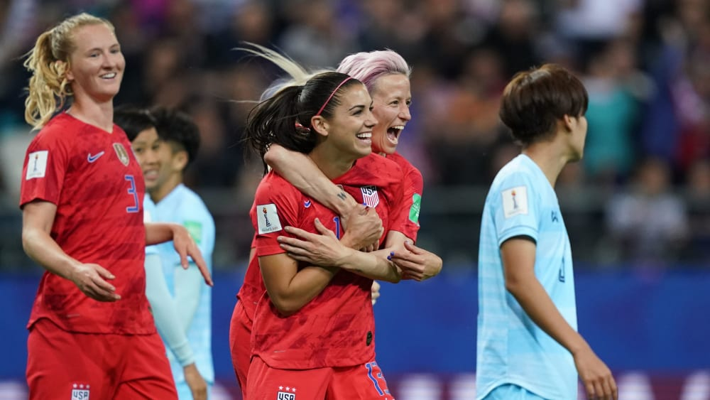 Alex Morgan & Co. waren richtig in Torlaune.