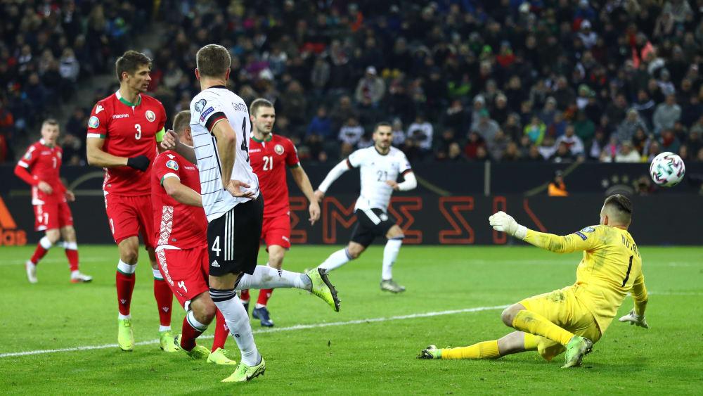 Dfb Team Dank 4 0 Gegen Weissrussland Fur Em Qualifiziert