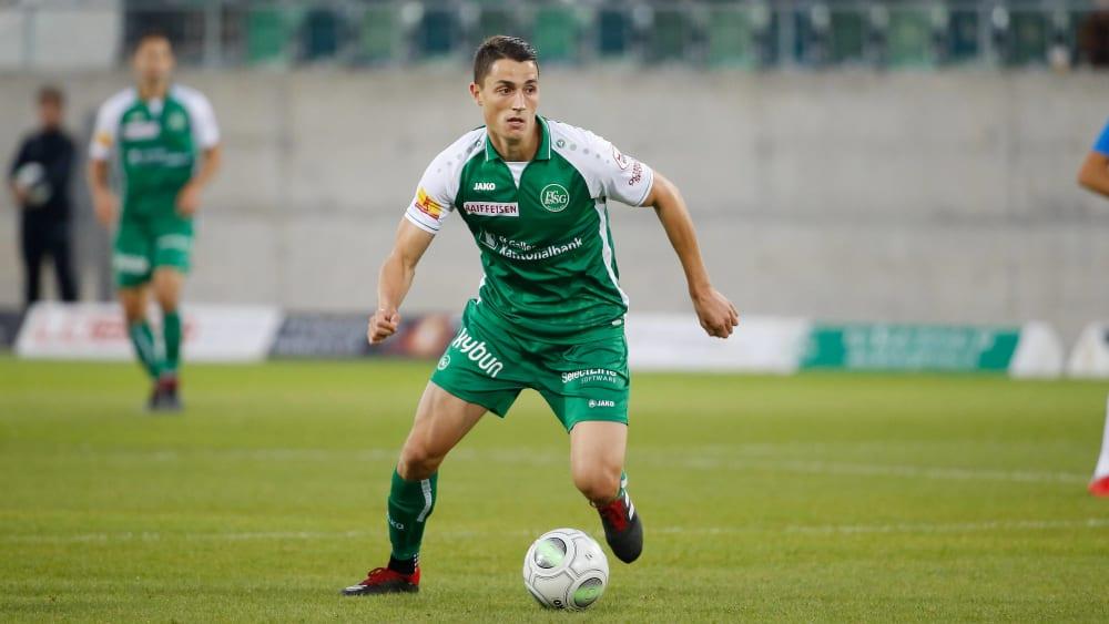 Zurück in die Schweiz: Vincent Sierro, hier im Trikot des FC St. Gallen, verlässt den SC Freiburg.