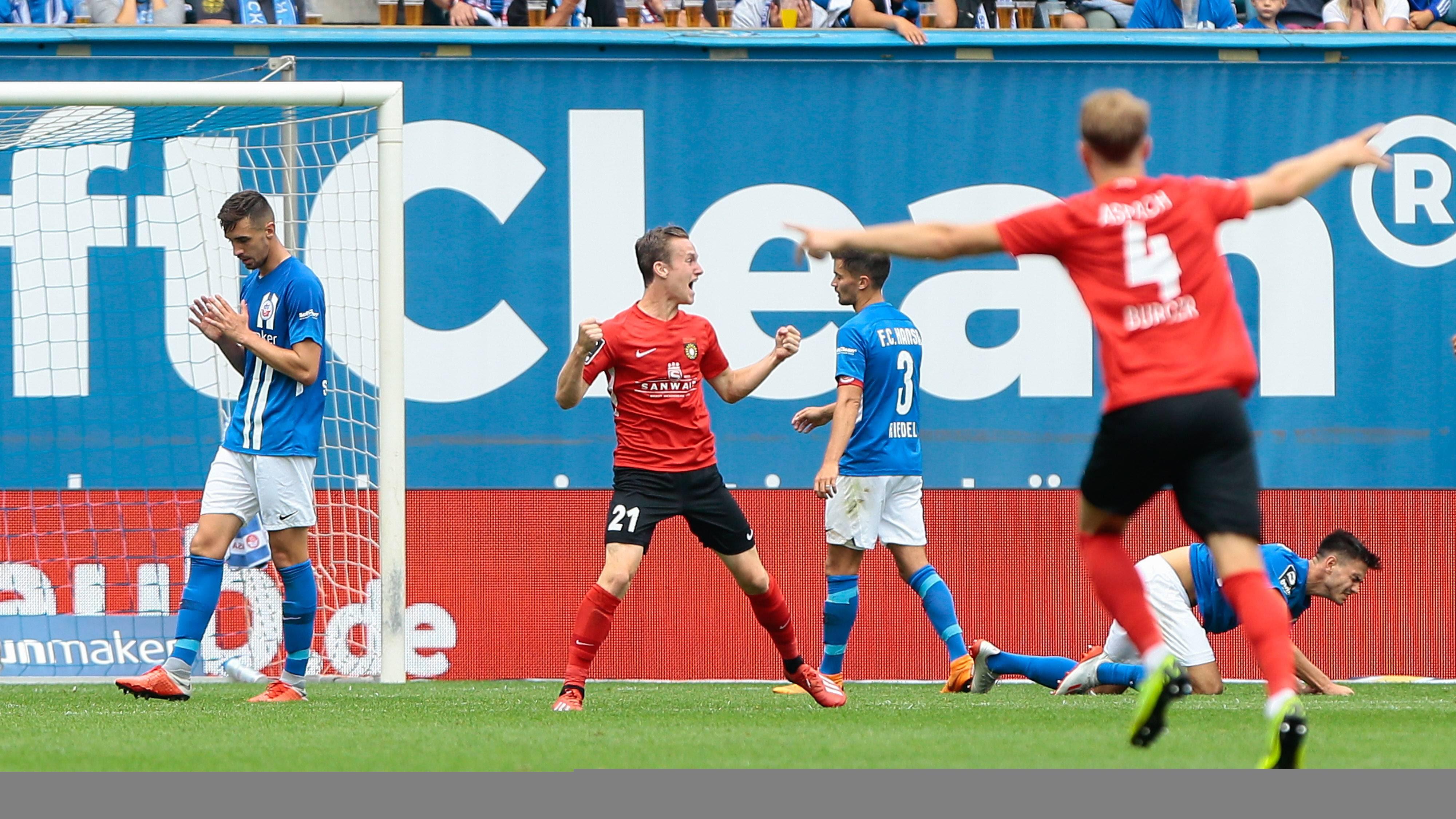 Rostock - SG Sonnenhof Großaspach 0:1 (0:0)