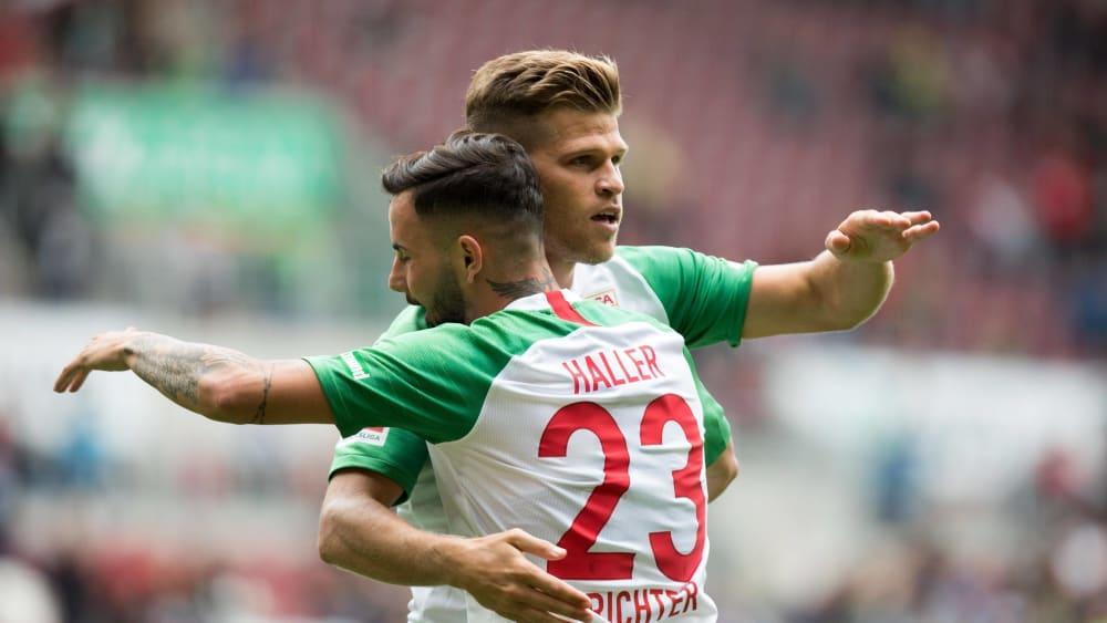 Erfolgreiches Duo: Florian Niederlechner (li.) und Marco Richter.