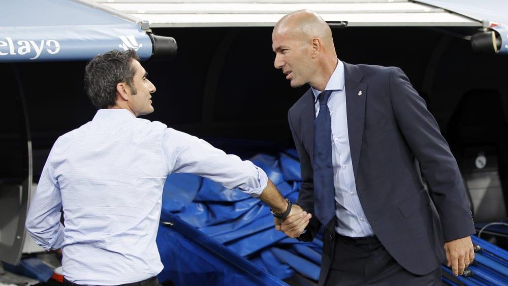 Hofft auf eine einvernehmliche Lösung: Ernesto Valverde (hier, mit Real-Coach Zinedine Zidane).