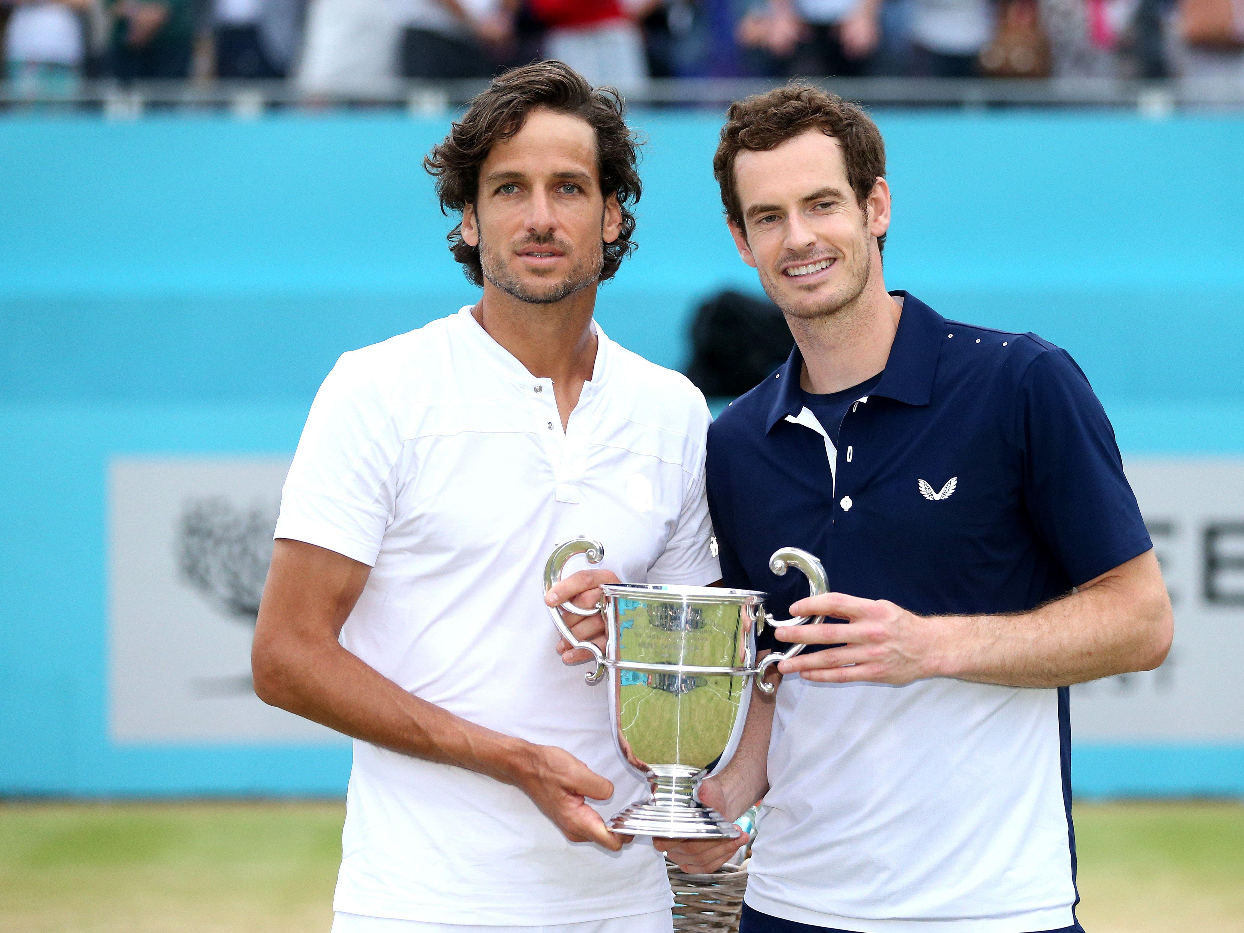 Feliciano Lopez und Andy Murray (re.)