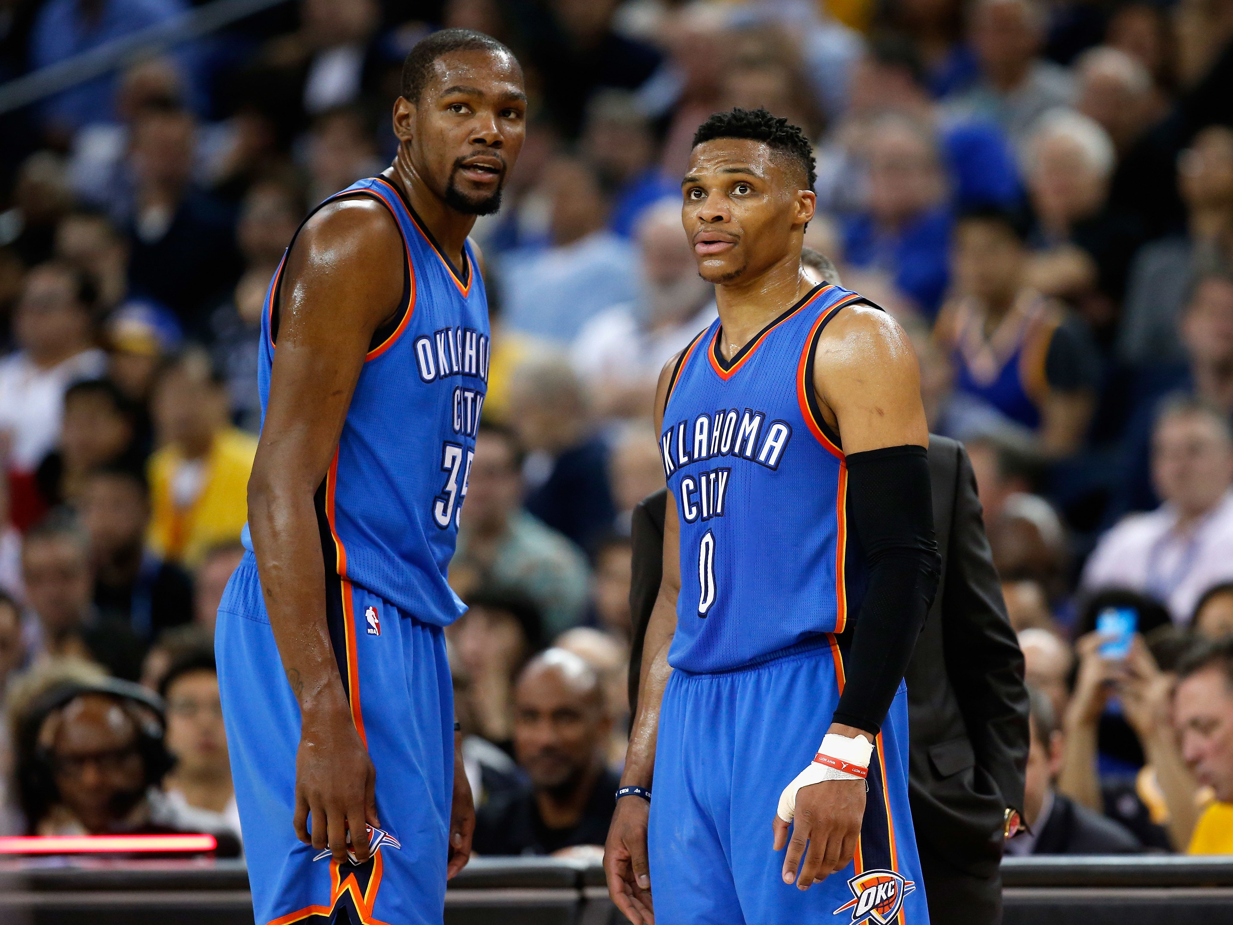 Kevin Durant und Russell Westbrook