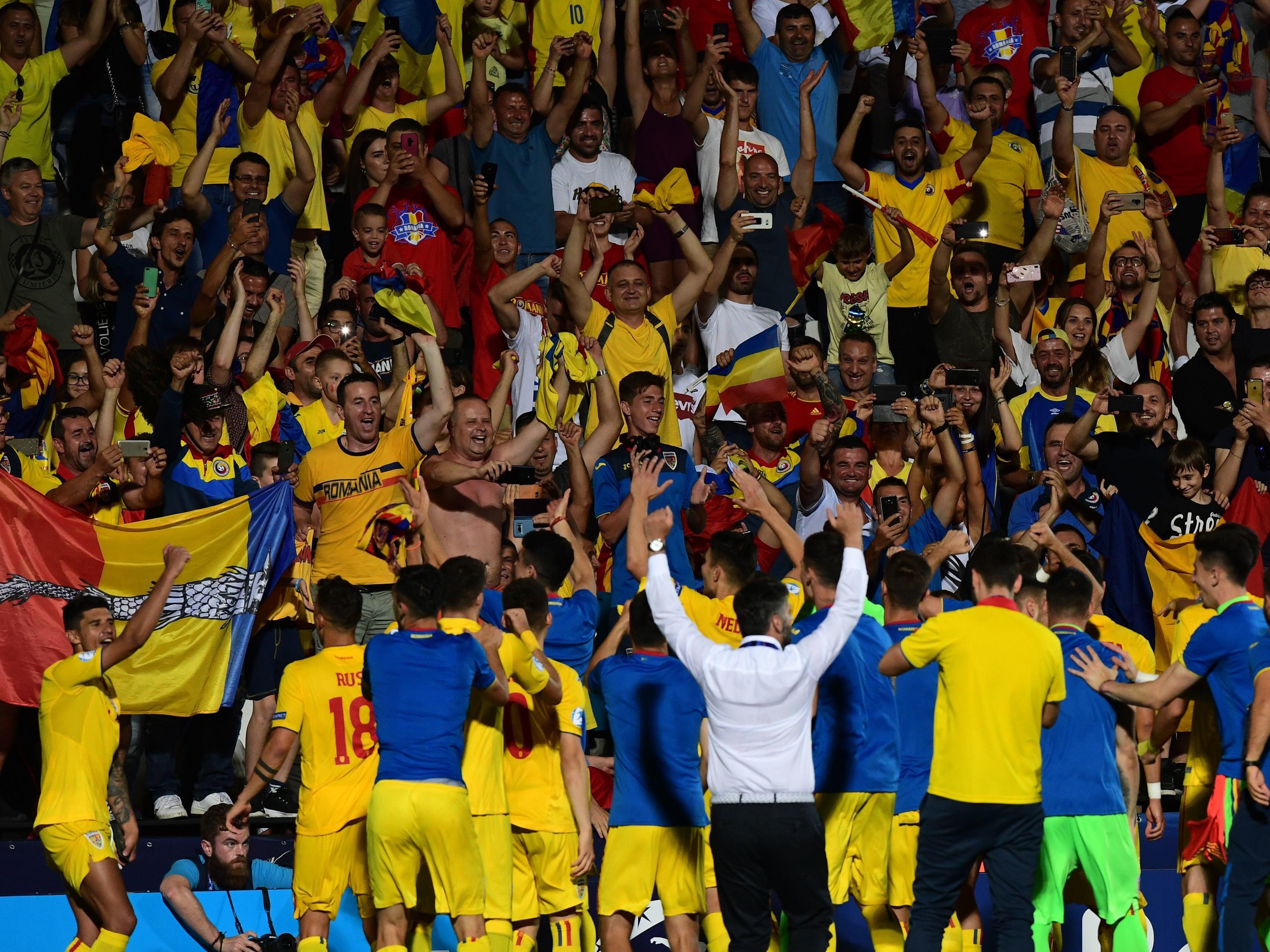 Fans der Rumänen