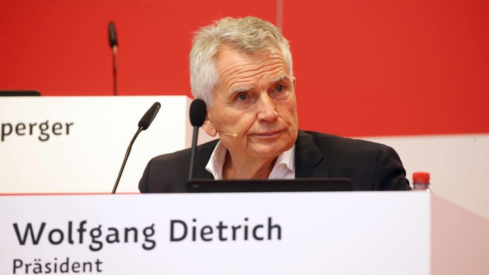 Wolfgang Dietrich am Sonntag in Stuttgart