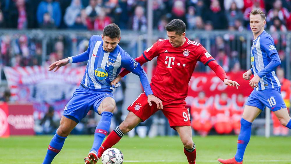 Lieferten sich mitunter packende Duelle: Marko Grujic und Robert Lewandowski (r.).