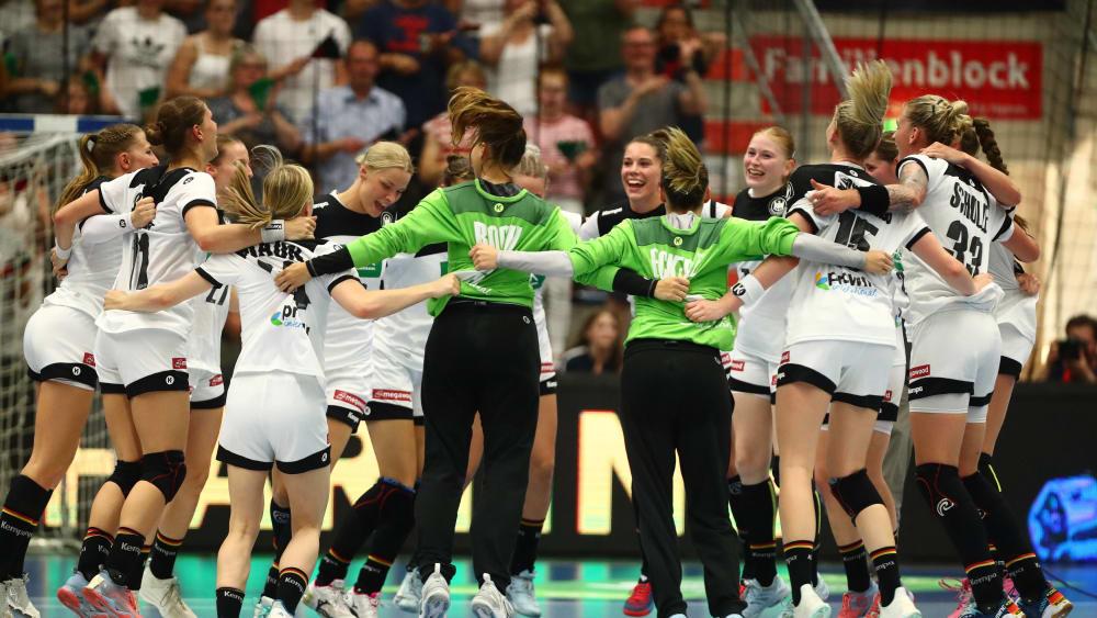 Große Freude beim deutschen Team.