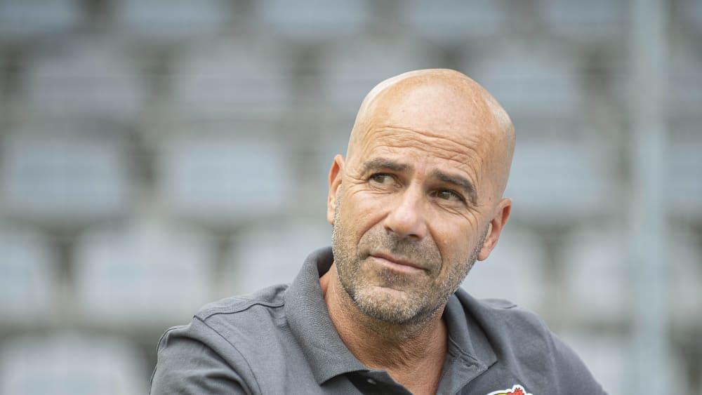Sieht noch ordentlich Verbesserungspotenzial: Leverkusens Trainer Peter Bosz.