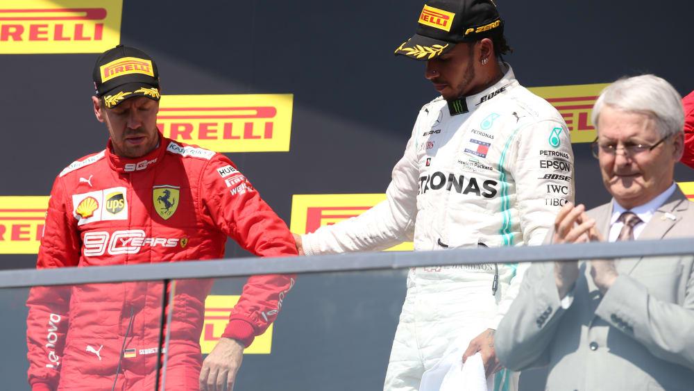 Sebastian Vettel und Lewis Hamilton in Kanada